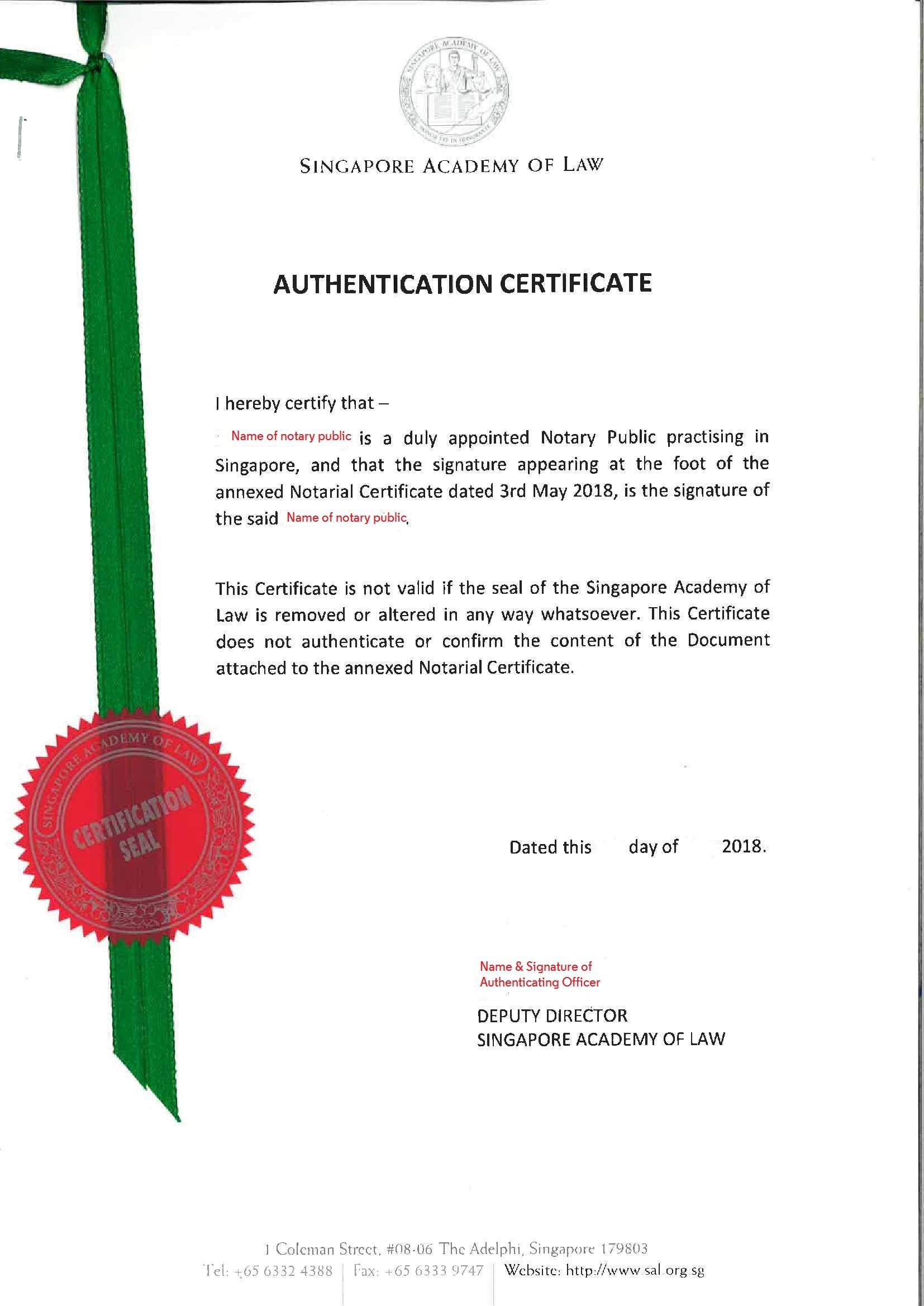 Notarization Legalization Service Sage Languages Pte Ltd