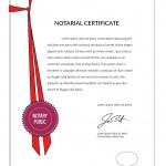 notarial certificate sample
