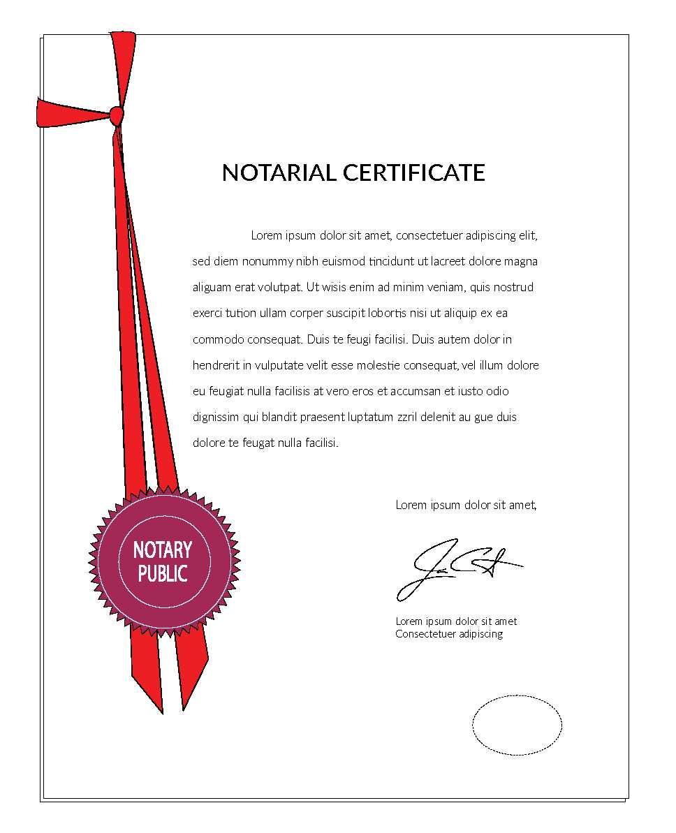 Notarial Certificates to be issued for all documents attested by ...